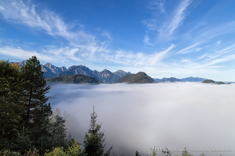 travelyesplease.com | Photo of the Week: Above the Clouds in Hohenschwangau