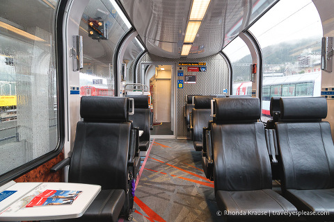 Inside a Swiss Train