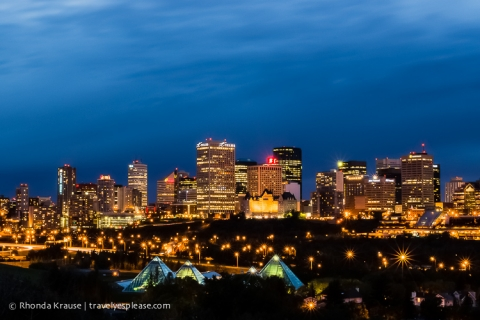 travelyesplease.com |Photo of the Week: Downtown Lights, Edmonton, AB