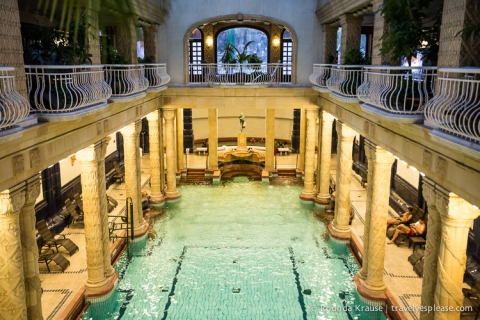 travelyesplease.com | Budapest Spas- Reviews and Tips for Visiting | Gellert Spa