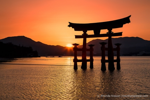 travelyesplease.com | Photo of the Week: Sunset at Miyajima's Great Torii