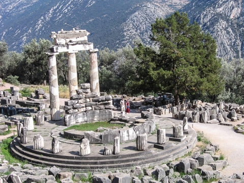 travelyesplease.com | Sanctuary of Athena and the Tholos of Delphi- Ancient Delphi, Greece