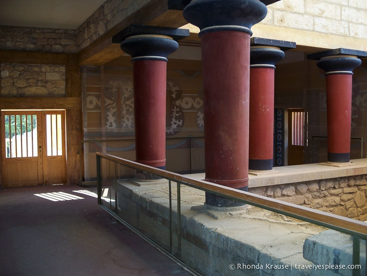 Image result for knossos inverted columns