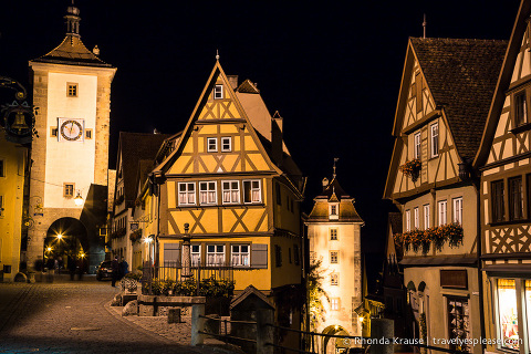 travelyesplease.com | Europe at Night: A Photo Series | Rothenburg ob der Tauber, Germany