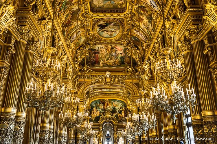 Paris Opera House Grand Foyer : Grand foyer of palais garnier paris photo the week
