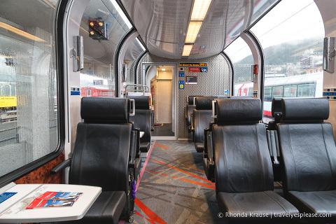 Inside a Swiss Train