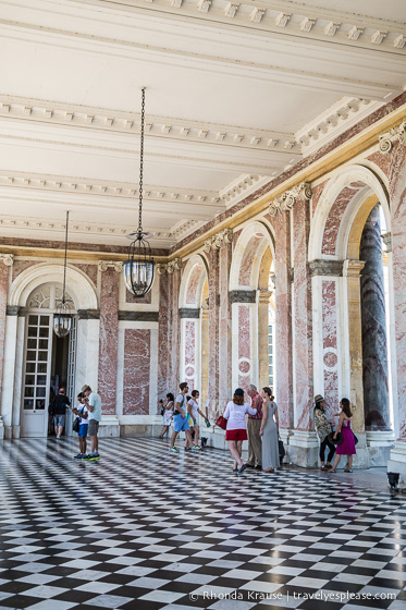Colonnade at the Grand Trianon.