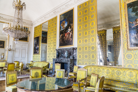 The Trianon Palaces at Versailles- Inside the family room at the Grand Trianon.