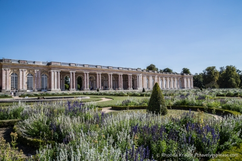 The Grand Trianon and its gardens.