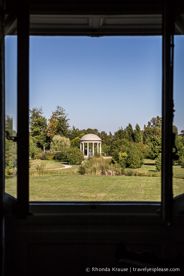View of the Temple of Love from the Petit Trianon.