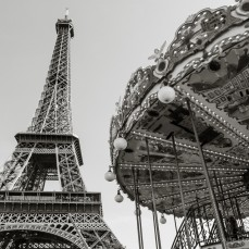 Travel Photography by Rhonda Krause |Eiffel Tower and Carrousel, Paris