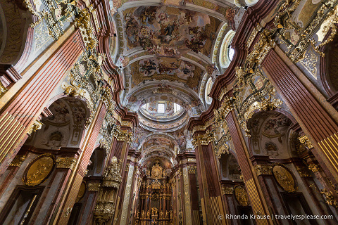 Inside the Melk Abbey Church- Melk, Austria
