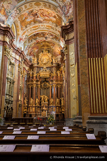 Inside the Melk Abbey Church, Austria