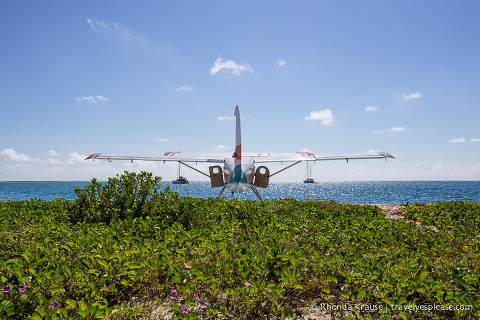 Sea plane at Dry Tortugas National Park.