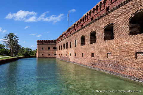 Fort Jefferson and its moat.