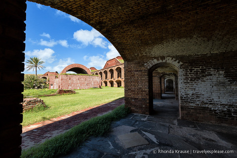 Taking a tour of Fort Jefferson in Dry Tortugas National Park.