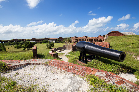 Overlooking the interior of Fort Jefferson in Dry Tortugas National Park.