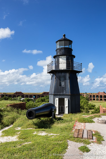 The Fort Jefferson lighthouse.
