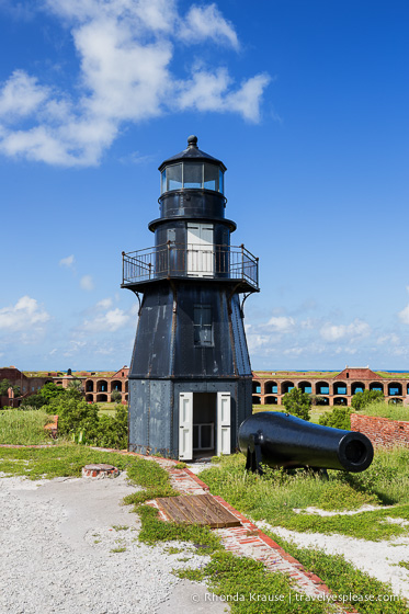 Lighthouse at Fort Jefferson in Dry Tortugas National Park.