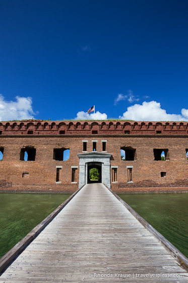 Bridge and entrance to Fort Jefferson.