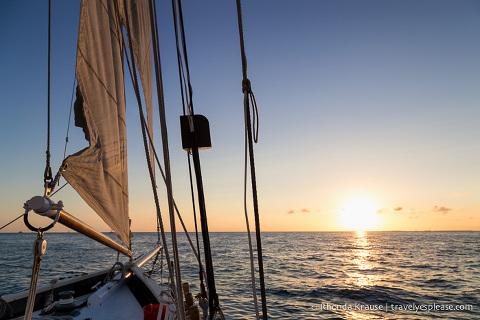 travelyesplease.com | Sunset Sail in Key West- The Appledore V Schooner