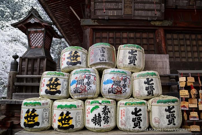travelyesplease.com | Photo of the Week: Sake Barrels at Fujiyoshida Sengen Shrine