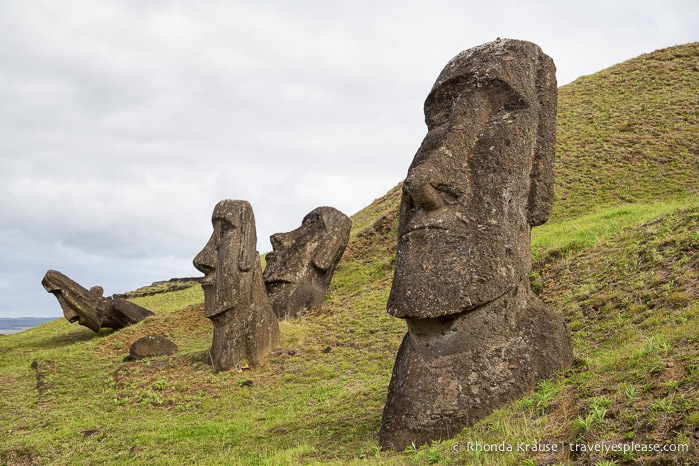 Rano raraku carving site of easter island s moai travel