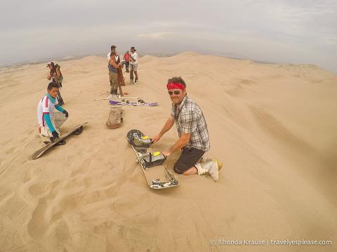 travelyesplease.com | Sandboarding in Huacachina, Peru