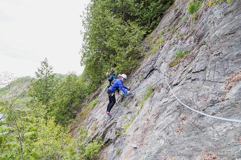 travelyesplease.com | Via Ferrata in Quebec- Montmorency Falls Park