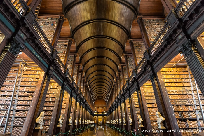 Long Room Of The Old Library At Trinity College Dublin