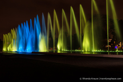 travelyesplease.com | Visiting the Magic Water Circuit in Lima- A Night of Fountains, Colour and Lights