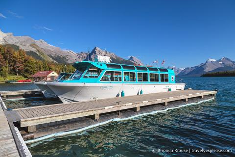 travelyesplease.com | Maligne Lake Cruise to Spirit Island- One of Jasper National Park's Most Iconic Experiences