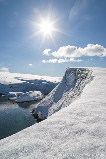 View at Portal Point, landing site on Antartica cruises