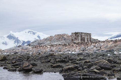 An old shack at Waterboat Point, Antarctica