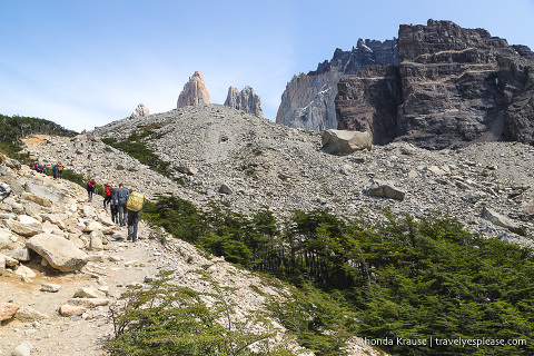 Towers Hike in Torres del Paine National Park, Chile