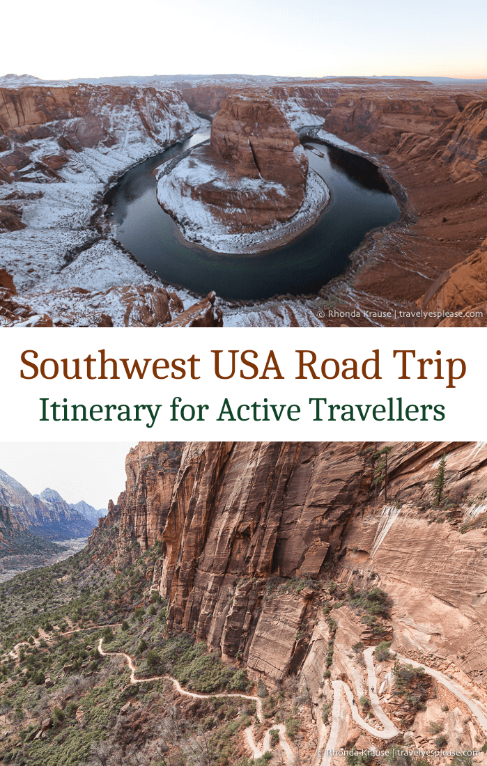 Southwest USA Road Trip- Itinerary for Active Travellers