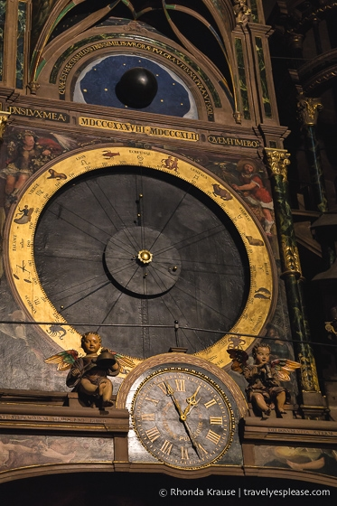 Planetary dial of the Strasbourg astronomical clock
