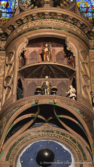 Animated figures on the Strasbourg astronomical clock