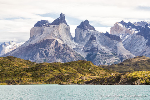 Lago Pehoe and the Cuernos del Paine (the Paine Horns)