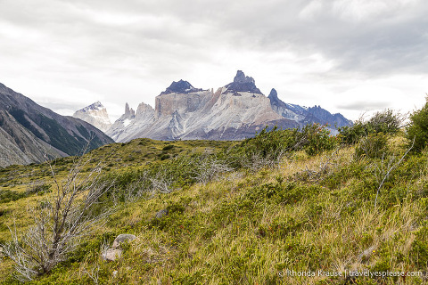 Cuernos del Paine seen while hiking to the French Valley