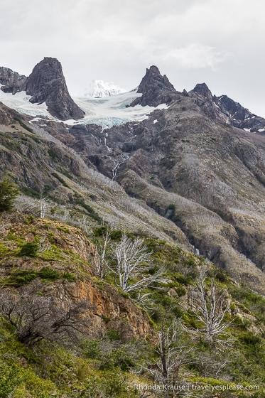 Small glacier on a mountain