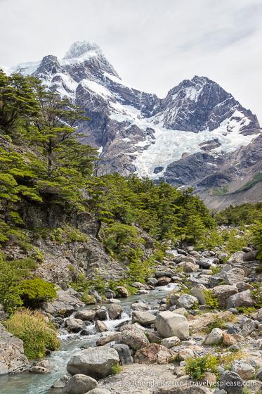 Cerro Paine Grande and Glaciar Frances in Valle del Frances