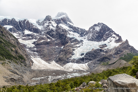 Cerro Paine Grande and the French Glacier in the French Valley of Torres del Paine National Park