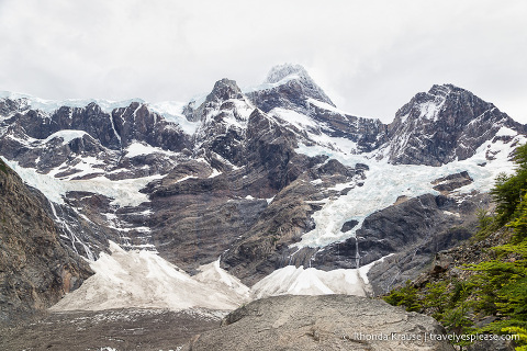 The French Glacier, final destination on the French Valley day hike