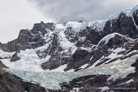 Closeup of the French Glacier in the French Valley