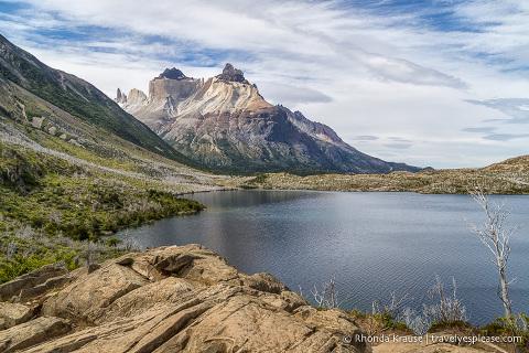 View from Mirador Lago Skottsberg of Cuernos del Paine