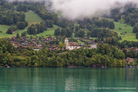 Ringgenberg, one of the villages on Lake Brienz