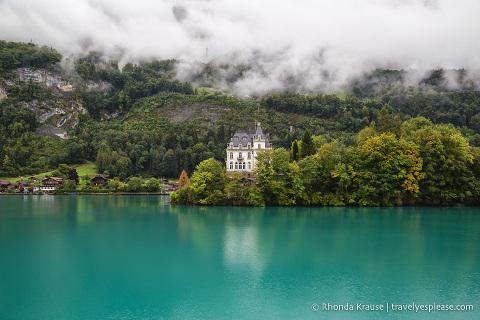 Castle in Iseltwald on Lake Brienz