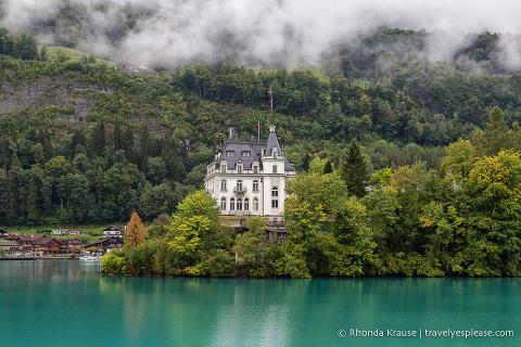 Castle on Lake Brienz