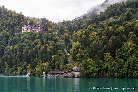 Grand Hotel Giessbach and the Giessbach funicular